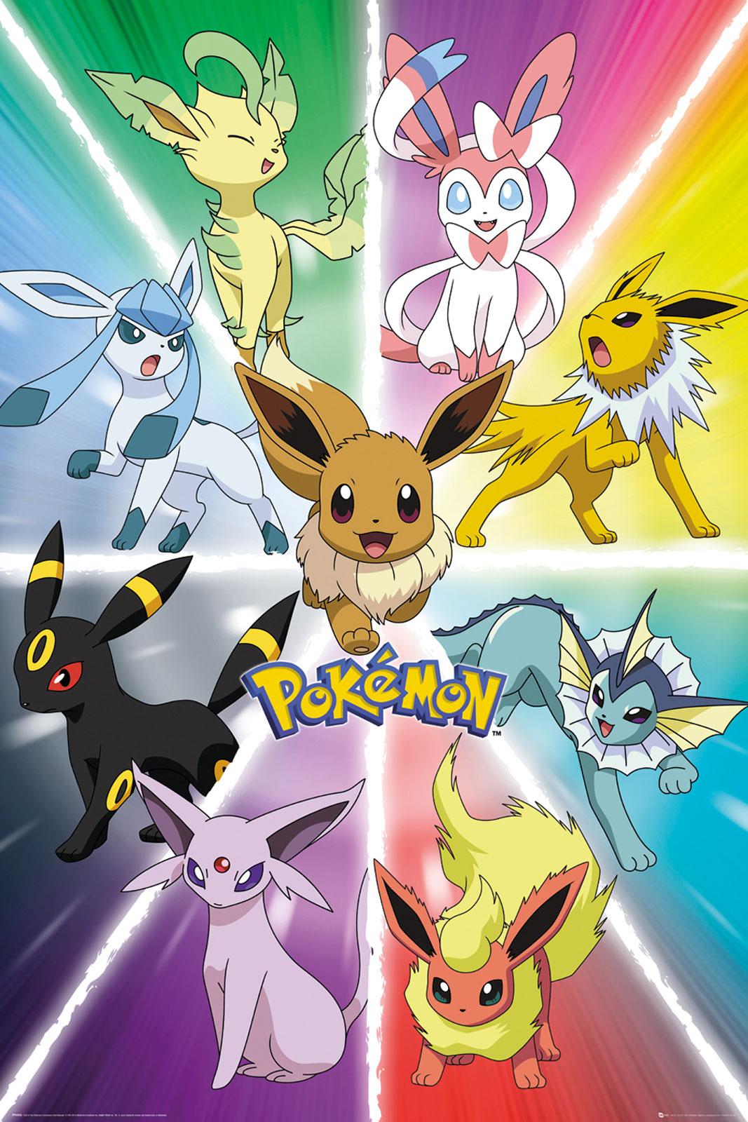 Pokemon Go Eevee Ewolucja plakat