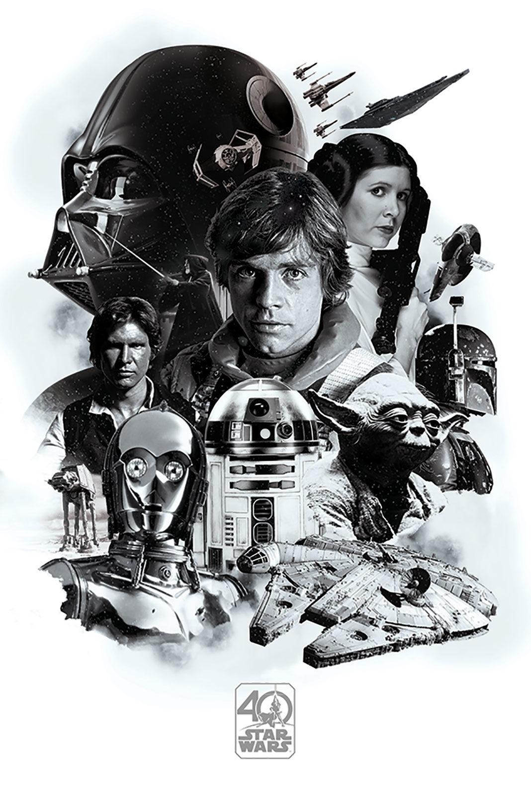 Plakaty Filmowe Star Wars 40th Anniversary Plakat Filmowy