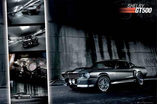Ford Shelby Mustang Easton GT 500 - plakat