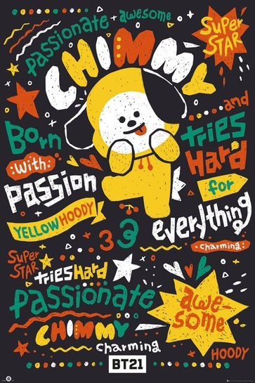 BT21 Chimmy - plakat