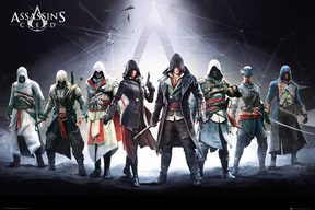 Assassins Creed Characters - plakat