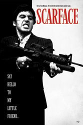 Scarface Człowiek z blizną Say Hello To My Little Friend - plakat