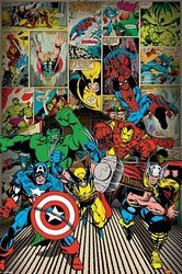 Bohaterowie Marvela Here Come The Heroes - plakat