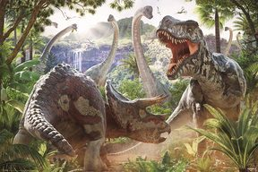 Dinosaur Battle (David Penfound) - plakat