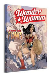 Wonder Woman From The Flames - obraz na płótnie