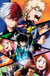 My Hero Academia - plakat z anime