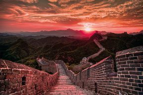 The Great Wall Of China, Sunset - plakat