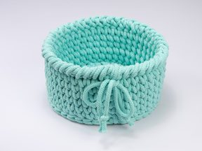 Round Basket Mini - turkusowy