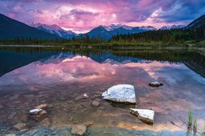 Vermillion Lakes - plakat