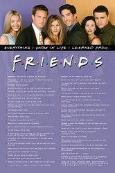 Friends Everything I Know - plakat z serialu