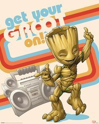 Strażnicy Galaktyki 2 Get Your Groot On - plakat z filmu