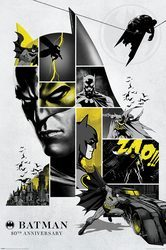 Batman 80th Anniversary - plakat komiksowy