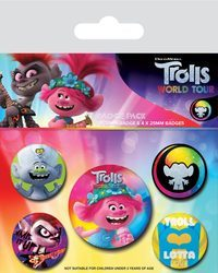 Trolls World Tour Powered By Rainbow - przypinki